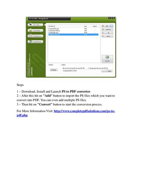 format converter doc to pdf convert your postscript documents into pdf format hashdoc