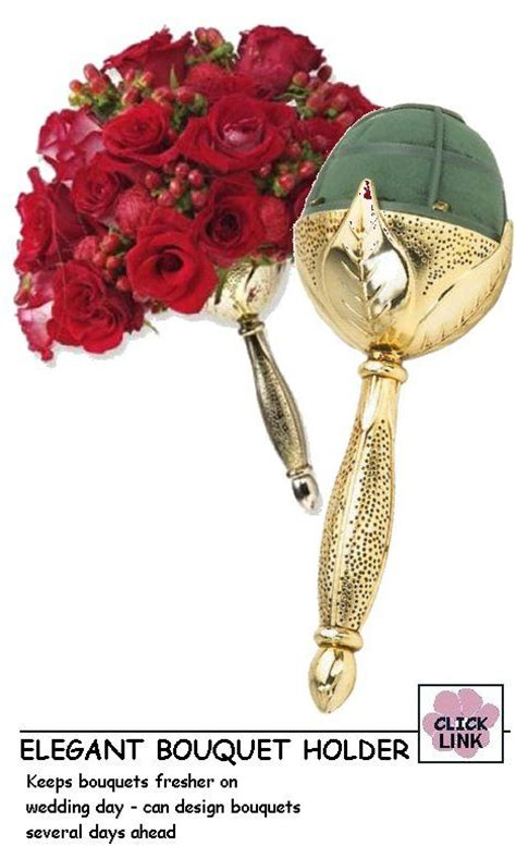 bridal bouquet holder clip website with free flower designing tutorials leaf holder