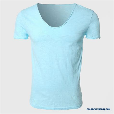 Kaos Polos Basic Tees Unisex Black Solid cheap basic t shirts solid cotton v neck slim shirts sleeve scoop