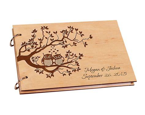 Wedding Gift Book by 2017 Custom Wood Wedding Guest Book Wedding Present