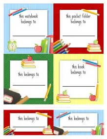 Book Labels Template by School Labels Printables And Templates On