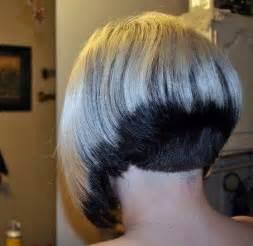 two color shaved nape short bob pinterest shaved two tone shaved nape bob two tone hair pinterest