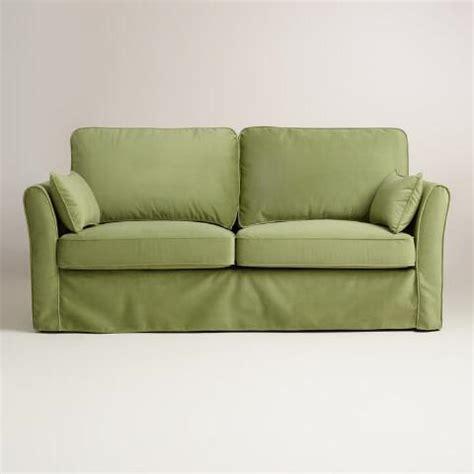 green sofa slipcover oregano green velvet loose fit luxe sofa slipcover world
