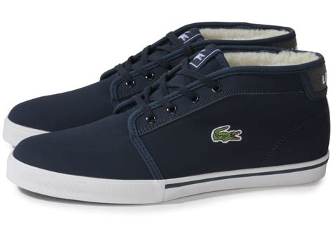 Chaussures Lacoste by Lacoste Thill Tw Bleu Marine Chaussures Homme Chausport