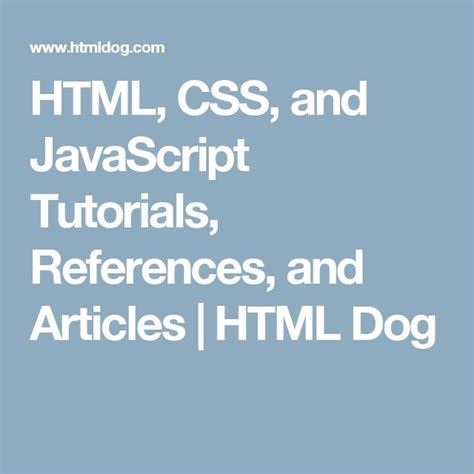 Javascript Tutorial Html Dog | 399 best webdev images on pinterest design web design