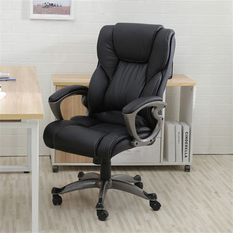 Ergonomic Office Desk Chair Executive Office Chair High Back Task Ergonomic Computer Desk Study Pu Leather Ebay