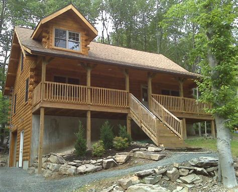 Home Away Cabins by Log Cabin 2 Blocks From Lake Vrbo