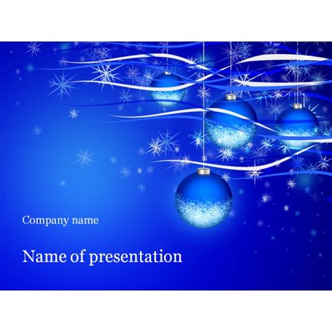 christmas holiday powerpoint template background for