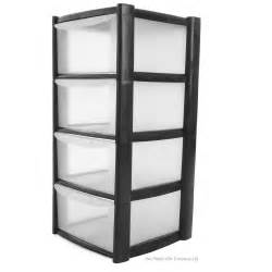 buy 4 drawer plastic storage tower unit 4 tier plastic