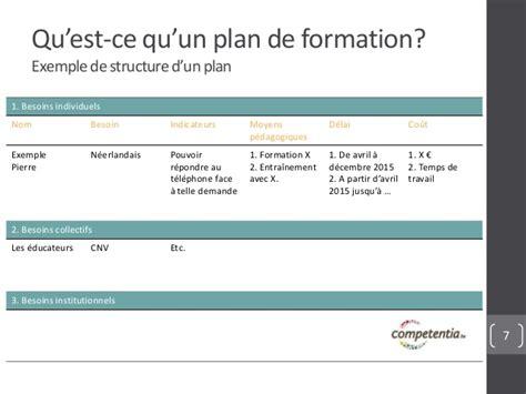 exemple d un plan de formation