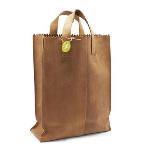 A Paper Bag - swissmiss leather paper bag