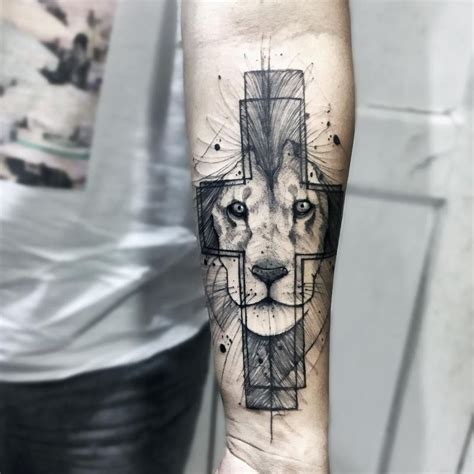 unusual cross tattoos want a unique check out these colorful and sketchy