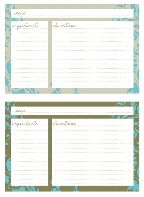 printable recipe planner jessica kenenske free printables meal planner and