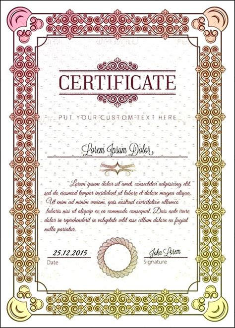 vintage diploma certificate template sle templates