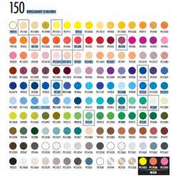 prismacolor 150 color chart prismacolor premier soft colored pencils 150 colored