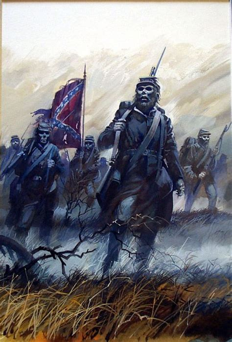 confederate ghosts original art by andrew howat
