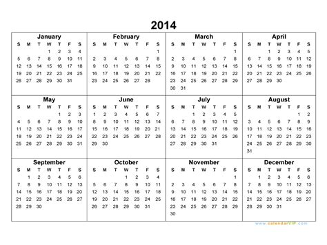 28 word calendar template 2014 monthly printable 2014