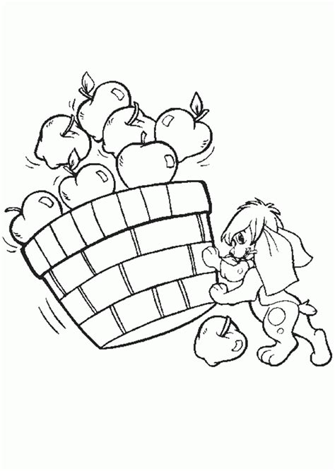 picking apples coloring pages pictures of apples for kids coloring home