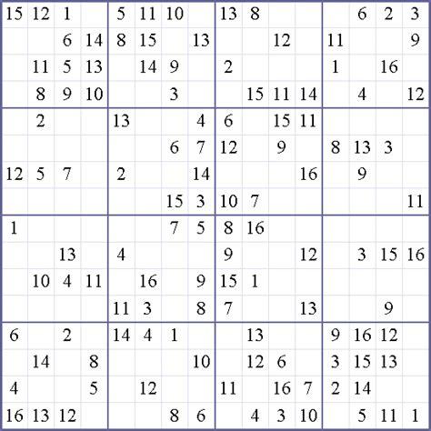 16x16 sudoku printable 16x16 sudoku