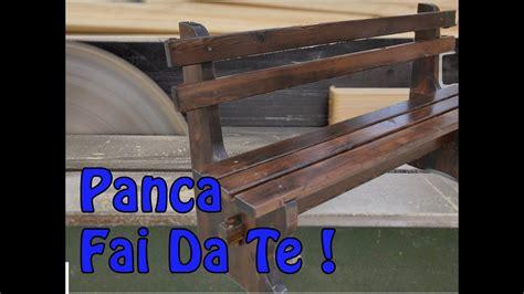 come costruire una panchina in legno come ho realizzato una panca