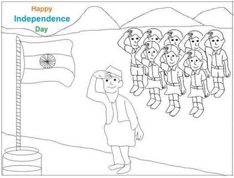drawing themes for independence day best independence day drawing picture ideas
