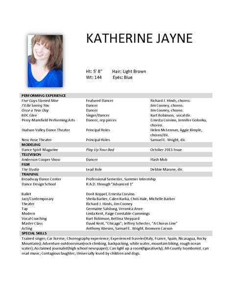 Resume Format Pdf For Job by Katherine Jayne Resume