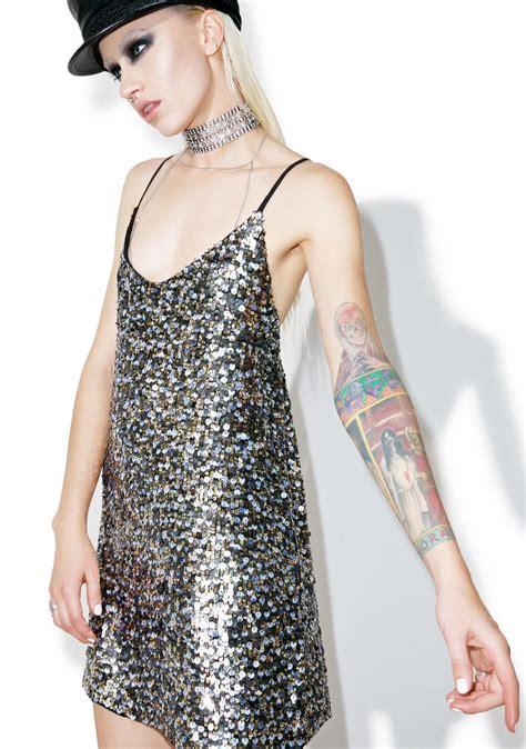 sequins and sunglasses slip on your sequin dress glare kendall kylie multi sequin slip dress dolls kill