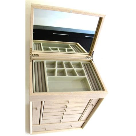 Large Jewelry Box With Drawers by Woody Princess Large Wooden Jewelry Box