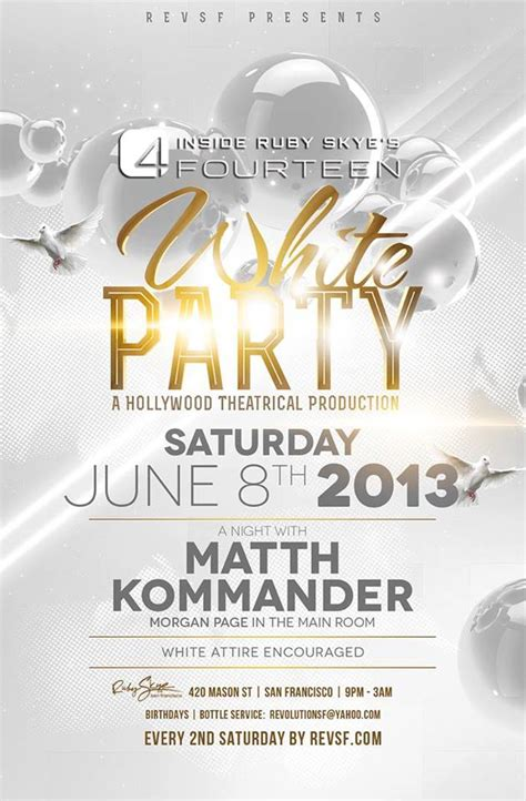 template flyer white party 28 images of all white for birthday party flyer template