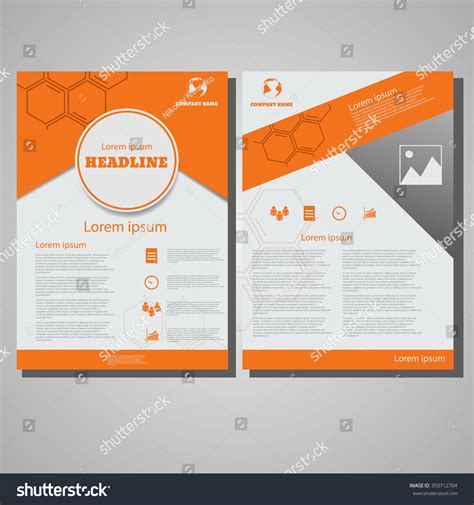 brochure layout design template vector orange colour brochure flyer design layout stock vector
