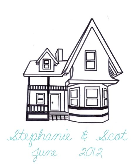 up house coloring page a floaty guestbook diy