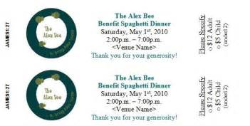dinner tickets template raising funds for adoption and more spaghetti dinner
