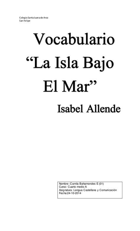 leer libro e la isla bajo el mar gratis descargar vocabulario del libro la isla bajo el mar