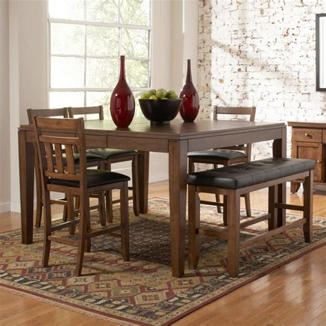 dining room sets with benches awesome dining room sets with bench wooden style floor white brick wall