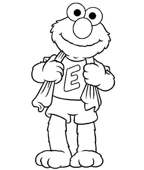 elmo color page az coloring pages