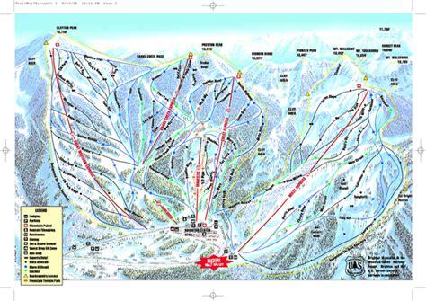 brighton trail map brighton ski resort ski trail map alta utah united