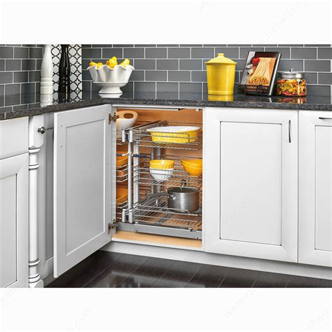 blind corner kitchen cabinet solutions three tier blind corner optimizer richelieu hardware