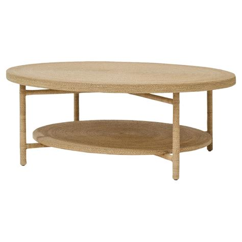Coastal Coffee Table Palecek Monarch Coastal Wrapped Rope Seagrass Coffee Table Kathy Kuo Home