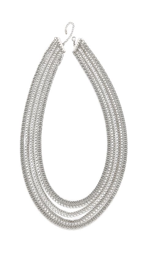 jules smith layered chain hip hop necklace silver in
