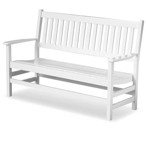 plantation bench plantation 61 slatted wood bench white paint dcg stores