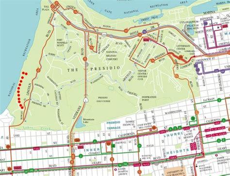 san francisco map presidio baker san francisco tourist map baker san