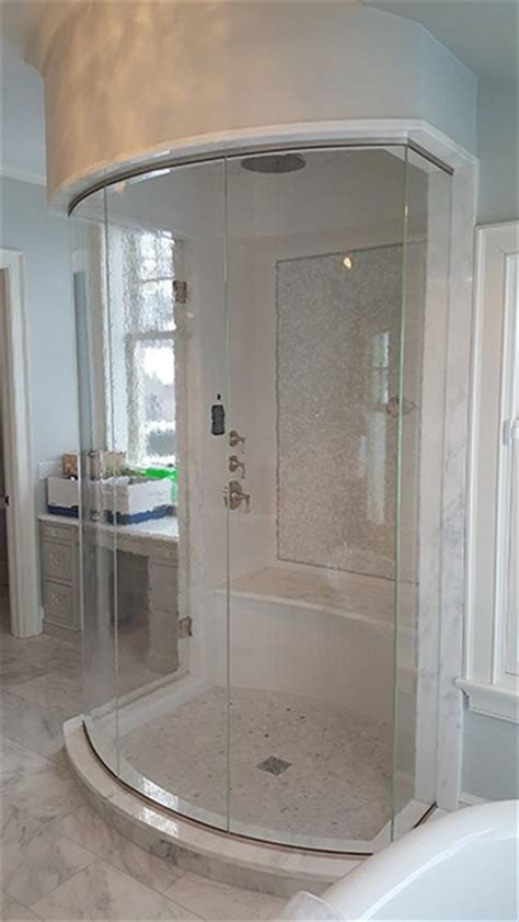 Curved Glass Shower Doors Curved Or Bent Glass Creative Mirror Shower