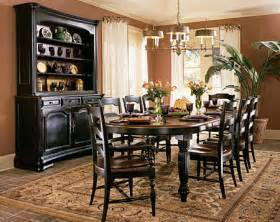 Black Dining Room Furniture Sets Indigo Creek Black Oval Leg Dining Room Table Set By