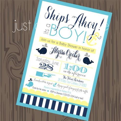 Diy Nautical Baby Shower Invitations by Nautical Invite Diy Printable Nautical Invitation