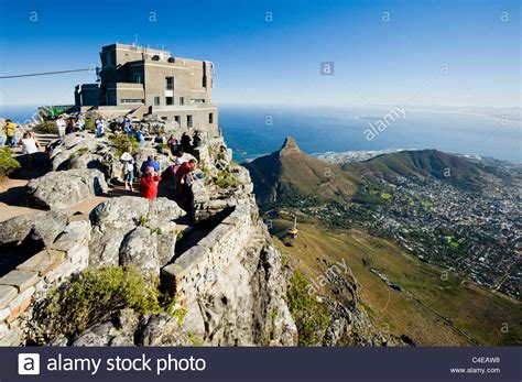 table top mountain south africa the cable car station on table mountain cape town south