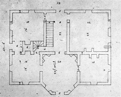 jefferson floor plan jefferson floor plan photograph by granger