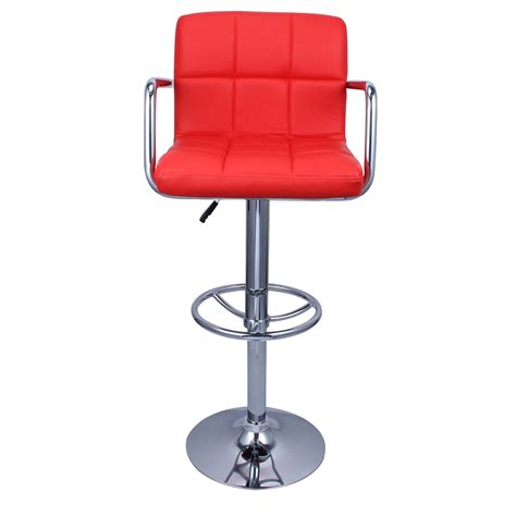 Hydraulic Bar Stools Set Of 2 Swivel Bar Stool Pu Leather Modern Adjustable