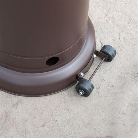 Patio Heater Wheels 48 000 Btu Outdoor Propane Patio Heater Lp Gas With Reguator And Wheel Mocha