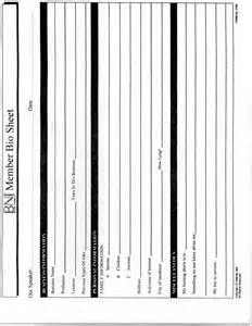 Bio Sheet Template by Bio Sheet Template Images