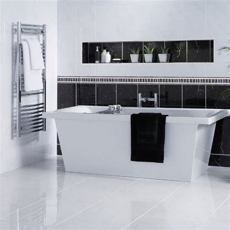 white bathroom floor bathroom white floor tiles bathroom shelf with towel